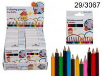 Mini wooden colouring pencils, 12 colours ass., ...