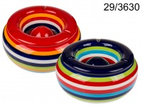 Ceramic storm ashtray, Stripes, ca. 23 x 11 cm, 2 ...