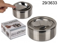 Stainless steel storm ashtray, ca. 12 cm, 960/PAL