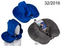 Neck cushion with hood &  micro pellet filling, ...