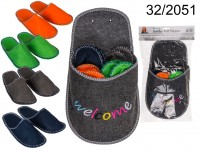 Jumbo felt slipper, Welcome, with 4 pairs of ...