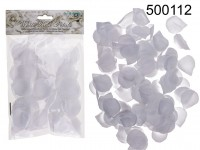 White rose petals, ca. 150 pcs. in poly bag with ...