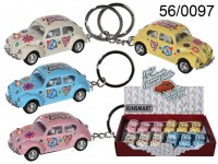 Keychain, model car with pull back, VW Beetle ...