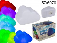 Plastic lamp, Cloud, with colourchanging LED ...
