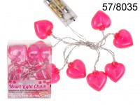 Light chain with 10 LED, Heart, L: ca. 1,65 m, ...