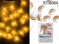 Light chain, Rainbow with cloud, with 10 LED, ca. ...
