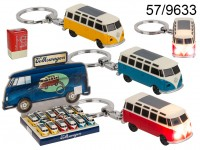 Keyring, Model Car, VW T1 bus - 1963, with LED ...