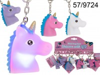 Metal keychain, Unicorn with LED (incl. ...