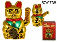 XXL lucky cat, ca. 35 x 24 cm, plastic, for 3 ...