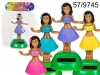 Moveable figurine, Hula Girl I, on plastic base ...