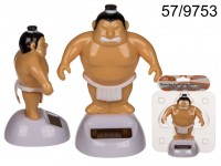 Moveable figurine, Sumo Wrestler, on plastic base ...