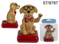 Moveable figurine, Dog with sunglasses, on ...