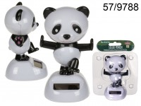 Moveable figurine, Panda, on plastic base with ...