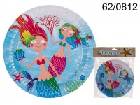 Party Paper plate, Mermaid, ca. 23 cm, 8 pcs. in ...