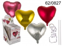 Foil balloon in metal optic, Heart, ca. 45 cm, 4 ...