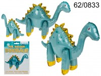 Blue foil balloon, Dinosaur, ca. 70 x 50 cm, in ...