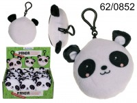 Plush Panda with carabine hook & sound (incl. ...