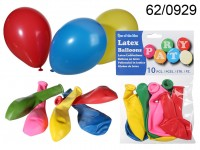 Latex balloons, Party colour, D: ca. 22 cm, 10 ...