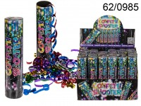 Confetti shooter, ca. 20 cm, 24 pcs. per display, ...