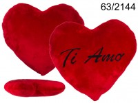 XXL-Red plush heart, TI AMO, ca. 60 cm, 54/PAL