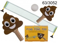 Ping Pong, Poo, ca. 22,5 x 15 x 5 cm, with 2 ...