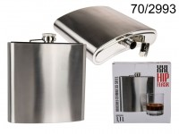 XXL Metal flask, for ca. 1,1 liter, ca. 18,5 cm, ...