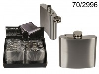 Metal flask for ca. 140 ml, ca. 10 x 9.5 cm, 8 ...