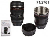 Plastic mug, Camera lens with stainless steel ...