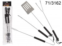 Grill tools, ca. 42 cm, set of 3, in polybag with ...
