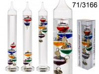 Glass Galileo Thermometer, H: ca. 28 cm, 336/PAL