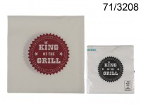 Paper Napkins, King of the grill, 2 ass., ca. 33 ...