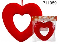 Red plastic heart, for hanging, ca. 22,5 cm, in ...