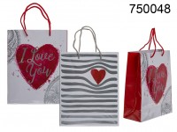 White paper gift bag, heart & I love you ass., ...