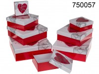 Red gift box, heart with I love you, ca. 22.5 x ...