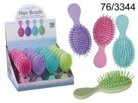 Hair brush, Spring Colours, ca. 14 cm, 4 colours ...