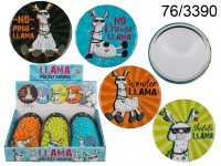 Pocket mirror, Llama, ca. 7 cm, 4 ass., 24 pcs. ...