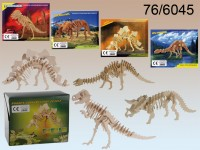 Natural Wooden 3D Puzzle, Dinosaur Skeleton I, ...