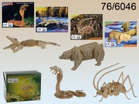 Natural Wooden 3D Puzzle, Wild Animals, ca. 17 x ...