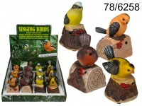 Motion Sensor, Polyresin Bird with with animal ...