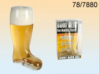 Glass Beer Boot for ca. 800 ml, H: ca. 22,5 cm, ...