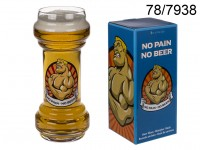 Beer glass, No Pain - No Beer, for ca. 830 ml, H: ...