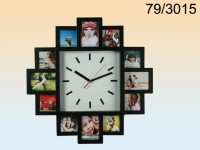 Wall clock with 12 photo frames, ca. 21 cm, ...