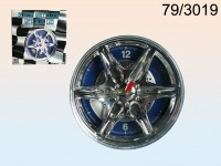 Wall clock, rim with blue LED, D: ca. 27 cm, ...