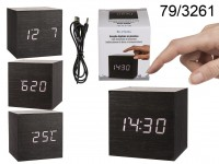 Digital clock, Cube, with alarm function, date & ...