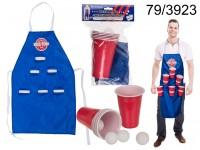 Kitchen apron, Beer Pong, ca. 80 x 50 cm, with 4 ...