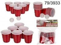 Drinking game, Mini Beer Pong, with 2 balls & 12 ...