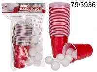 Drinking game, Beer Pong, with 15 balls & 22 ...