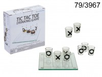 Glass drinking game, Tic Tac Toe with 9 glasses, ...