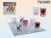 Drinking Game, Tic Tac Toe  with 9 glasses, ca. ...
