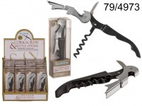 Metal Corkscrew, 3 in 1, ca. 12 cm, in PET box, ...